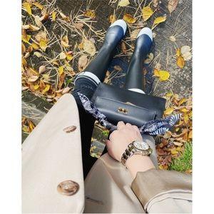 chanel classic rain boots